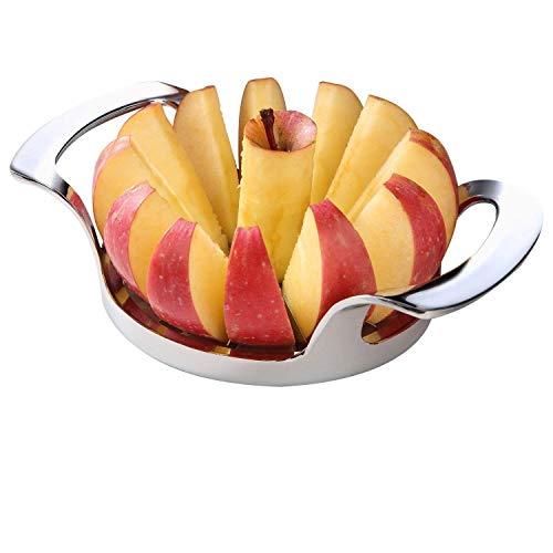 Apfelschneider und Entkerner aus Edelstahl, 12 Klingen, in Lebensmittelqualität der Güte 304, extra-groß, strapazierfähig, Apfelschneider für bis zu...