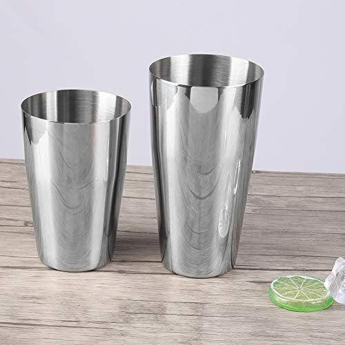 Okuyonic Cocktail-Set, Cocktail-Shaker-Set aus Edelstahl 304 mit Kleiner Tasse für den Haushalt für Cocktails zur Zubereitung von Eiskaffee