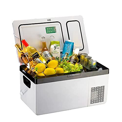 TAOBEGJ Elektrische Kompressor-Kühlbox, Kühlbox Elektrische Gefrierbox Klein Gefrierschrank 12/24/220 V, Mini-Kühlschrank Für Auto, LKW, Boot, Reisemobil...