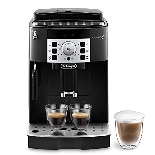 De'Longhi Magnifica S ECAM 22.110.B Kaffeevollautomat mit Milchaufschäumdüse für Cappuccino, mit Espresso Direktwahltasten und Drehregler, 2-Tassen-Funktion,...