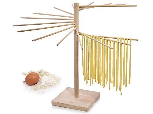 Sänger Pastatrockner aus Holz – Demontierbarer XXL Nudeltrockner zum Trocknen für selbstgemachte Pasta, Pastabaum mit einer Gesamthöhe von 50 cm und 16...