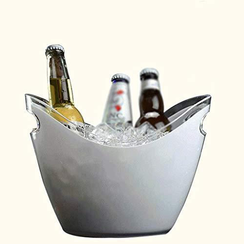 YWSZJ Ovale Plastikaufbewahrungswanne, Wein, Bierflaschen-Getränkekühler, Party-Eiskübel, Party-Getränkekühler Bi