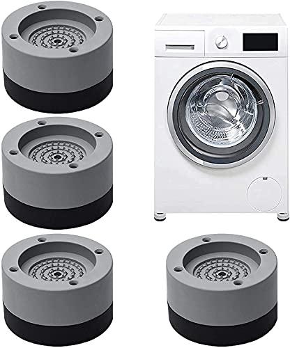 4 Stück Waschmaschine Fußpolster, Vibrationsdämpfer,Antivibrationsmatte waschmaschinenunterlage für Waschmaschinen & Trockner Tables, chairs, etc.(Geben...
