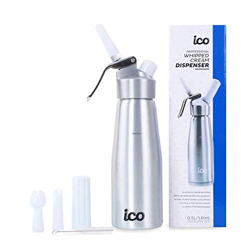 ICO Aluminium 0,5 l Sahnespender für Cremes und Soßen (ICO001/CC001)