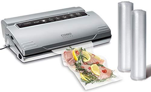 CASO VC300 Vakuumierer - Vakuumiergerät, Lebensmittel 8x länger frisch, doppelte Schweißnaht, regulierbare Vakuumstärke, inkl. Folienbox, Cutter, 2...