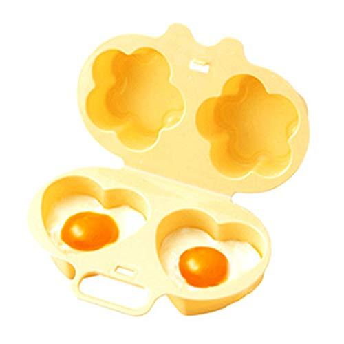 LEZED Mikrowellen-Eidampfer Kochform Mikrowelle Eierkocher Eierformer für Gekochte Eier Kunststoff-Ei-Kocher Mikrowelle Egg Pochierte Eier Eierkocher Küche...
