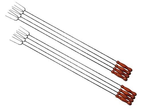 8 lange Grillspieße, sehr lang 1 Meter Wurstspieße, für Garten Grill, Würstlhalter Wursthalter für Würste Würstl Wurstgrill (Achtung kein Teleskop,...