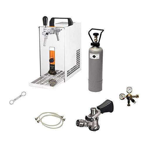 Bierkühler mobile Bierzapfanlage 25 Liter/h KOMPLETTSET - KEG Flach - CO2 2 kg