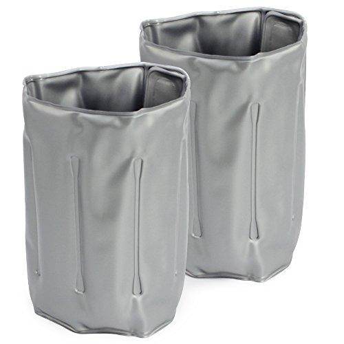 COM-FOUR® 2x Flaschenkühler für unterwegs - Weinkühler-Manschette mit Schnellverschluss - Kühlmanschette zum Kühlen von Bier, Wein und Softdrinks -...