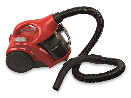 Dunlop Zyklonstaubsauger - Staubsauger - Vacuum-Cleaner - 700 W, 78 Dezibel - Rot/Schwarz