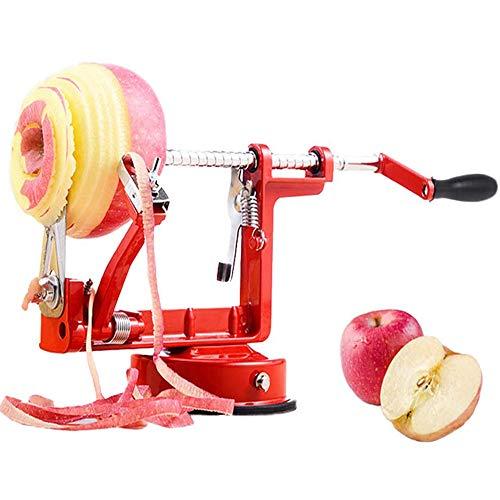 Bugucat Apfelschäler, Profi Apfelschneider Apfelschälmaschine Spiralschneider Apfelentkerner Schälmaschine Kartoffel Obstschneider 3 in 1 Funktion in Premium...