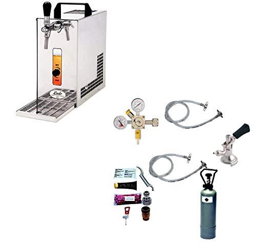 Gastrobedarf Westerbarkey Zapfanlage Trockenkühler 30l/h Komplettset 2kg Co², Uhr, Schläuche Keg Reinigung