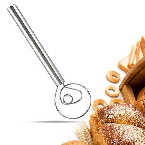 DaceStar Danish Teig-Schneebesen 30,5 cm großer Mixer Mixer Admixer für Kuchen, Dessert, Brot, Pizza, Gebäck, Lebensmittel-Handgeschirr, hochwertiges 304...