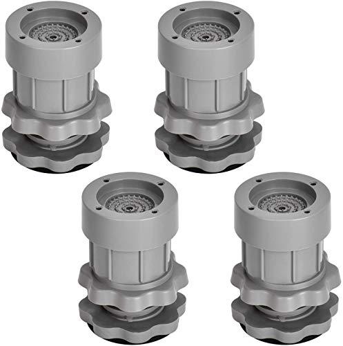 Vibrationsdämpfer, 4 Stück Gummifüße Antivibrationsmatte Universal Schwingungsdämpfer, für Waschmaschinen Trockner Möbel Kühlschrank(Höhenverstellbar...