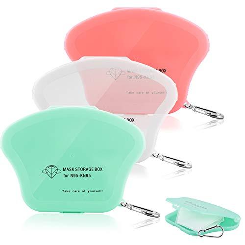 YIRSUR 3 Stück Maskenbox, Masken Aufbewahrungsbox Tragbare für Staubmasken, Wasserdicht, Staubdicht, mit Schlüsselbund für Outdoor Reise (Maskenbox 1)