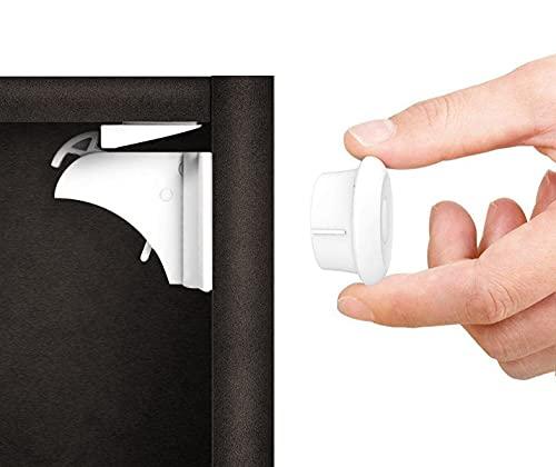 Norjews Baby Sicherheit Magnetisches Schrankschloss(10 Schlösser + 2 Schlüssel)   zum Kindersicherung Schloss für Schränke und Schubladen   Unsichtbare  ...