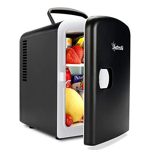 AstroAI 2 in 1 Mini Kühlschrank 4 Liter Fridge mit Kühl- und Heizfunktion 12 Volt am Zigarettenanzünder und 230 Volt Steckdose für Autos, Büros und...