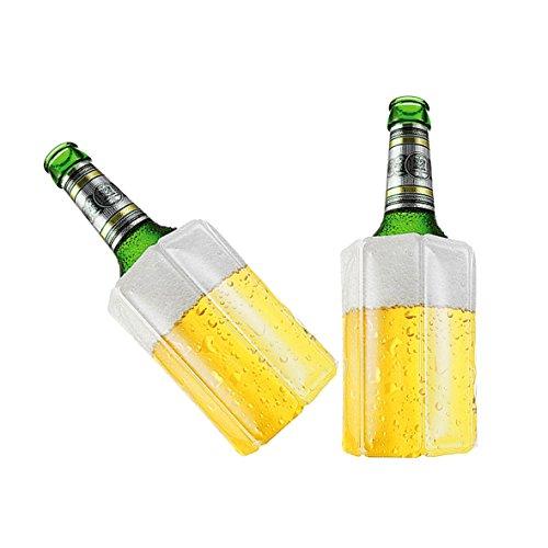 TS Exclusiv Bier Kuehlmanschette Bierkühler Flaschenkühler Getränkekühler (2er Pack)