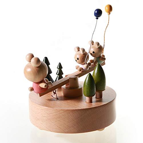 Chonor Innovative Szene aus Holz Spieluhr, Premier Spieluhr Handkurbel Handwerk Reine Hand-klassischen Music Box Dekorationen Idee für Geburtstag Weihnachten -...
