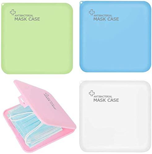 Aufbewahrungstasche für Masken, 4 Stück Aufbewahrungsbox für Masken Wasserdicht Staubdicht, Maskenbox zur Vermeidung von Maskenverschmutzung Perfekt für...