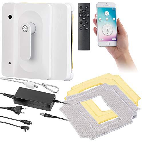 Sichler Haushaltsgeräte Fensterreinigungsroboter: Profi-Fensterputz-Roboter PR-040 mit Bluetooth, App & Sicherungs-Seil (Fenstersauger)