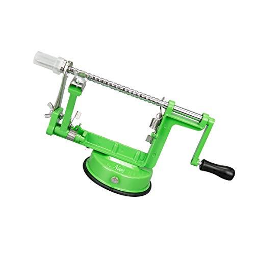 NEEZ Apfelschäler Fruchtentkerner Entferner Schneidemaschine Cutter und Kartoffelschäler, Gemüse Schälen Maschine zum Küche, Schäler (Grün)