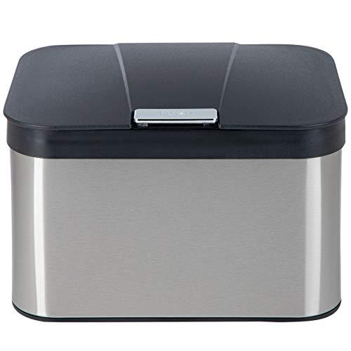 ONVAYA® Biomülleimer für die Küche   Komposteimer mit Deckel   Abfallbehälter aus Edelstahl für Biomüll   Bio Abfalleimer   geruchsfrei & luftdicht   4,3...