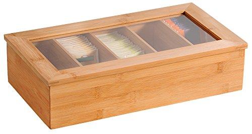 Kesper Tee-Box, Bambus, Braun, 36 x 20 x 9 cm