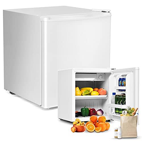 RELAX4LIFE 48L Mini-Kühlschrank, Kühl-Gefrier-Kombination mit Temperaturregelung, Getränkekühlschrank mit verstellbaren Füßen & wechselbarem Türanschlag,...