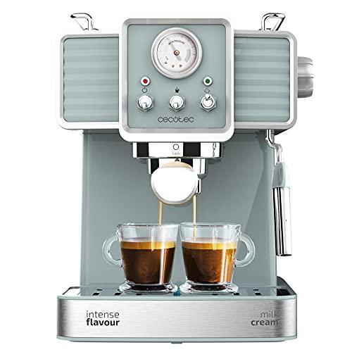 Cecotec Power Espresso 20 Tradizionale Espressomachine 1350 W 20 Bar Manometer Heizblock Kaffee Tee Öko Ohne Kapseln Milchschäumer Twin Tamper...