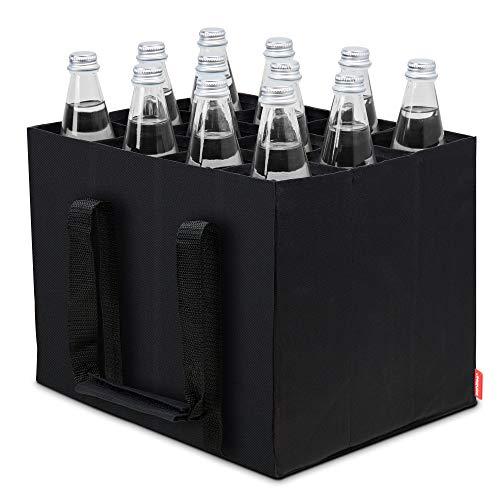 Parkwächter Achilles Flaschentasche, Bottle Bag für 12 x 1,5 Liter Flaschen, Bottlebag, Tragetasche mit Trennwänden für Flaschen, Autobox, Einkaufstasche...