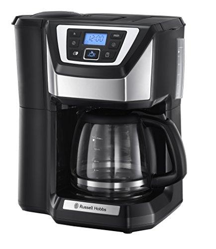 Russell Hobbs Kaffeemaschine mit Mahlwerk Victory (1,5l Glaskanne, 12 Tassen, digitaler programmierbarer Timer, Mahlgradeinstellung, Kaffeeautomat für...