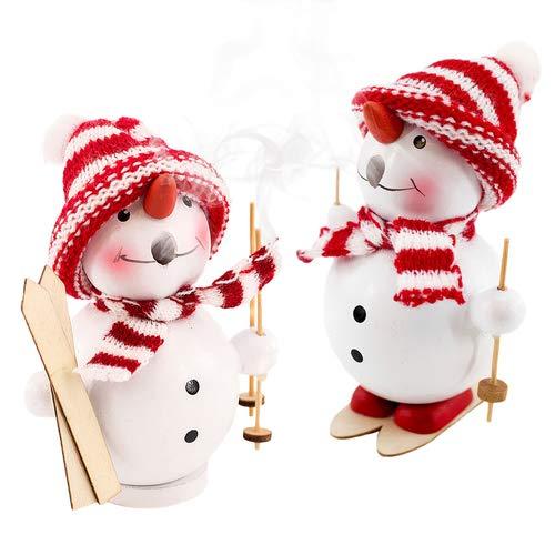 Räuchermännchen Schneemann, 2er Set Räucherfigur, Weihnachte, Winterdekoration