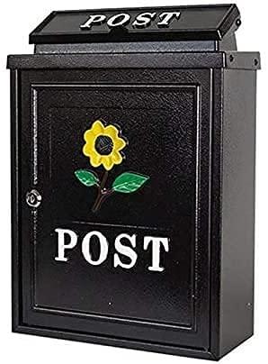 XJYDS Wandmontierte galvanisierte Stahl wetterfeste Nachboxen Verriegelung Wandmontierter Mailbox Büro-Drop-Box-Kommentar-Box-Buchstabe...