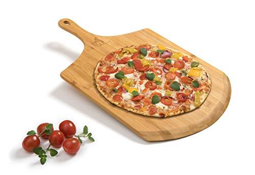 HeRo24 Flammkuchenbrett Pizzaheber -Schieber Pizzaschaufel Bambusbrett Schneidbrett Flammkuchen Bratschaufel