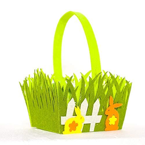 MOBFIDOFG Ostern Deko 2 stücke Ostern Dekoration kanincheneier küken Nicht gewebt lagerkorb Bunny süßigkeiten Geschenk Taschen frohes Ostern dekor für...