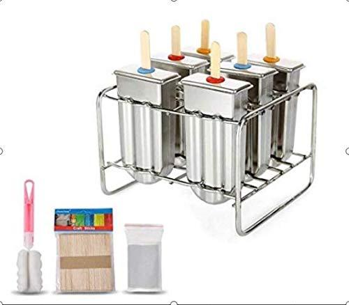 Regun EIS am Stiel, Stieleis-Form Edelstahl-EIS am Stiel-Form-Eiscreme-Form mit Edelstahl-Stickhalter