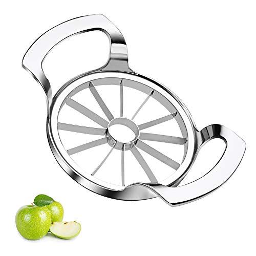 Apfelschneider Edelstahl,Apfelschäler,Apfelteiler Obstschneider Apfelstecher Apfelkernausstecher Apfelentkerner,Apfelportionierer Apfelausstecher,Apfelteiler...