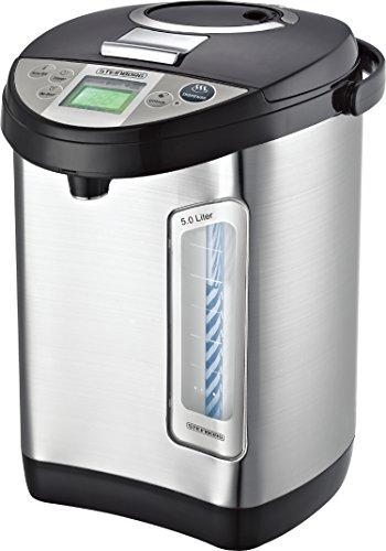 Thermopot 5 Liter   Edelstahl Heißwasserspender   Wasserkocher   Wasserspender   Dispender   Thermoskanne   Teekocher   24 Stunden Timer   LC-Display  ...