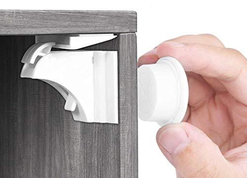 Babysicherheit Magnetisches Schrankschloss 20 Schlösser mit 3 Schlüssel, unsichtbare Kindersicherung für Schrank und Schubladen, ohne Bohren und Schrauben -...