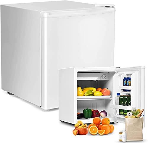 RELAX4LIFE Mini-Kühlschrank 48L, Kühl-Gefrier-Kombination mit Temperaturregelung, Getränkekühlschrank mit verstellbaren Füßen & wechselbarem Türanschlag,...