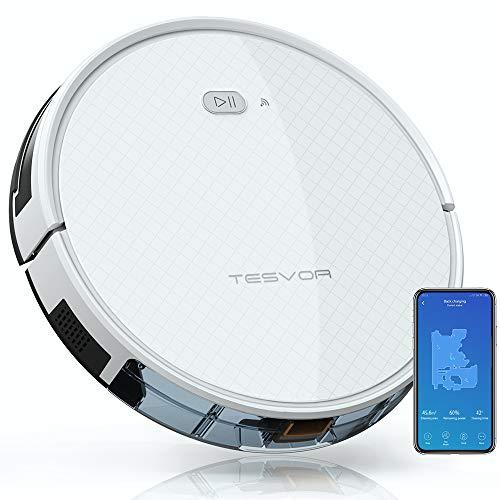 Saugroboter,TESVOR X500pro Saug-Wischroboter 2 in 1 Intelligente Gyroskope-Navigation Reinigungsroboter 350ML elektronischer Wassertank Reinigungsanzeige in...