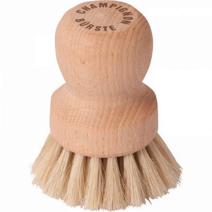 HOFMEISTER® Pilzbürste mit edlem Rosshaar-Besatz, 7,7 cm, für alle Pilze geeignet, Champignons schonend putzen, Pilze trocken von Sand reinigen, Made in...