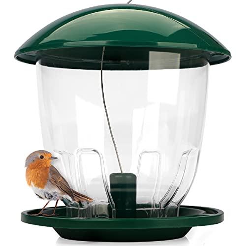 WILDLIFE FRIEND I Vogelfutterspender XL zum Aufhängen 1 kg I Vogelfutterstation für Wildvögel I Vogel Futterstation, Futterspender Vögel, Vogelfutterhaus,...
