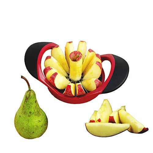 MASCHOTA® Apfelschneider Apfelentkerner mit 12 Klingen Apfelausstecher Apfelteiler Obstschneider Apfelstecher Apfelkernausstecher Ideal für Äpfel und Birnen...