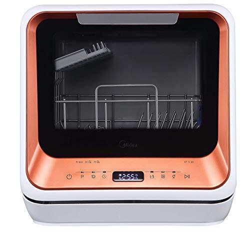 Midea ST 3.20N Mini-Geschirrspüler Tischgeschirrspüler, Spülmaschine für 2 Maßgedecke, funktioniert mit/ohne Wasseranschluss, 6 Reinigungsprogramme,...