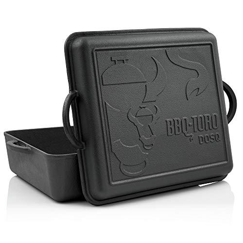 BBQ-Toro Dutch Oven Pan | Gusseisen Kochtopf | 10,8 Liter Gusstopf | preseasoned - bereits eingebrannt | Bräter mit Deckel