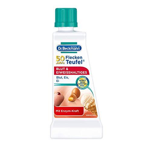 Dr. Beckmann Fleckenteufel Blut & Eiweißhaltiges, Spezialfleckentferner gegen Blutflecken, Eis- und Spermaflecken (50 ml)