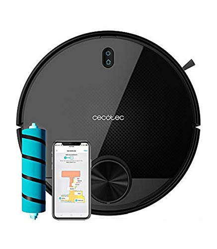 Cecotec Saugroboter Conga Serie 3590. Mit Laser-Technologie, Jalisco Bürste, Room Plan, 2300 Pa, App mit interaktiver KArte, Doppelter Bëhalter, Bürste für...