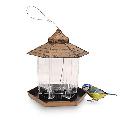 Herefun Vogelfutterspender, Futterstationen für Wildvögel, Futterautomat zum Hängen, Vogelhaus zum Aufhängen, Vogelhaus Futterhaus Natürliche Garten und...